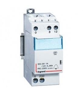 Трансформатор для цепей звуковой сигнализации Legrand CX3 230В/8-12В 8Ватт