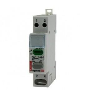 Кнопочный выключатель Legrand с фиксатором 1НО+зеленый индикатор