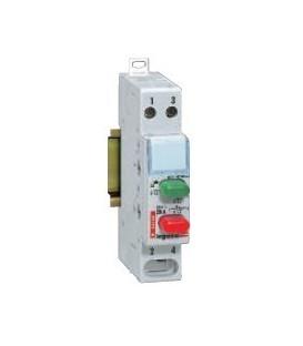 Кнопочный выключатель Legrand с фиксатором 1НО+1НЗ