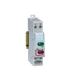 Индикатор модульный Legrand с двумя лампами, зеленый и красный рассеиватель