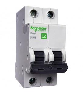 Автоматический выключатель Schneider Electric EASY 9 2П 25А С 4,5кА 230В