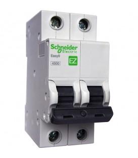 Автоматический выключатель Schneider Electric EASY 9 2П 50А С 4,5кА 230В
