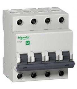 Автоматический выключатель Schneider Electric EASY 9 4П 25А С 4,5кА 400В