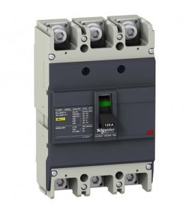 Автоматический выключатель Schneider Electric EZC250N 125A 25 кА/400В 3П3Т
