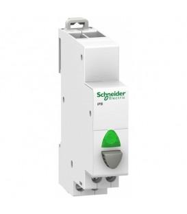 Кнопка управления iPB Acti 9 Schneider Electric серая+зеленый индикатор 1НО
