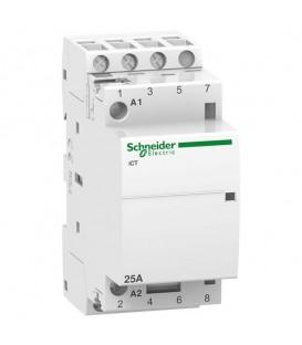 Модульный контактор iCT Acti 9 Schneider Electric 25A 3НО 220В/240В АС 50ГЦ