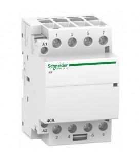 Модульный контактор iCT Acti 9 Schneider Electric 40A 4НО 220В/240В АС 50ГЦ