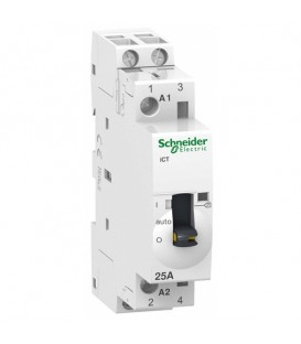 Модульный контактор с ручным управлением iCT Acti 9 Schneider Electric 25A 2Н 220В АС 50ГЦ