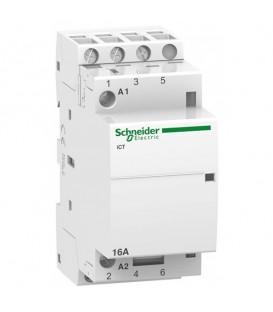 Модульный контактор iCT Acti 9 Schneider Electric 16A 3НО 220/240В АС 50ГЦ