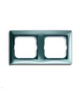 Рамка двойная ABB Basic 55, цвет голубой