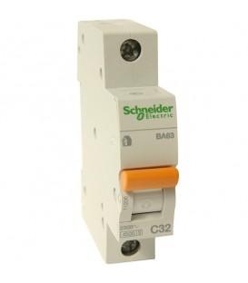 Автоматический выключатель Schneider Electric ВА63 1п 63A C 4,5 кА