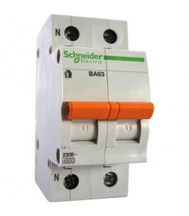 Автоматический выключатель Schneider Electric ВА63 1п+н 63A C 4,5 кА