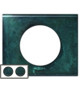 Рамка Legrand Сeliane двухместная (патина медь)