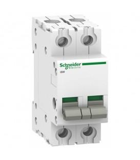 Выключател нагрузки iSW Acti 9 Schneider Electric 2П 100A (модульный рубильник)