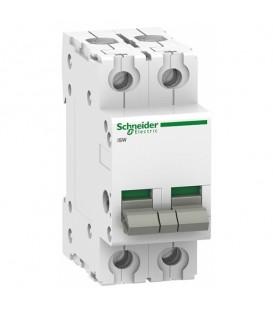 Выключател нагрузки iSW Acti 9 Schneider Electric 2П 125A (модульный рубильник)