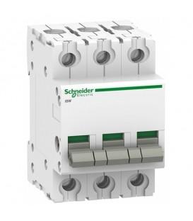 Выключател нагрузки iSW Acti 9 Schneider Electric 3П 100A (модульный рубильник)