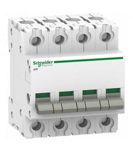 Выключател нагрузки iSW Acti 9 Schneider Electric 4П 100A (модульный рубильник)