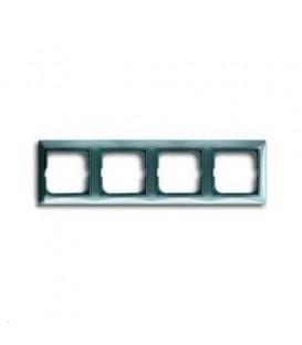 Рамка четырехместная ABB Basic 55, цвет голубой