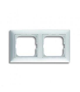 Рамка двойная ABB Basic 55 альпийский белый 1725-0-1480