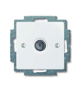 Розетка ТВ ABB Basic 55, белый