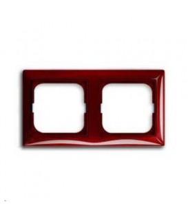 Рамка двойная ABB Basic 55, красная