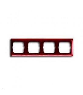 Рамка четырехместная ABB Basic 55, красная