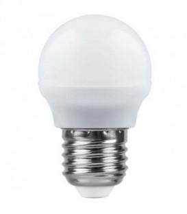 Лампа LED 7вт Е27 теплый матовый шар (SBG4507) SAFFIT
