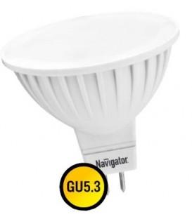 Лампа LED 7вт 230в GU5.3 тепло-белая Navigator (94244 NLL-MR16)