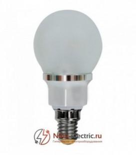 Лампа LED 3.5вт Е14 белая (шар) FERON (LB-40 6LED)