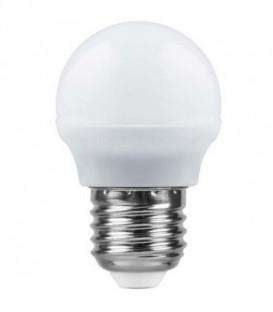 Лампа LED 5вт Е14 белый матовый шар SAFFIT (SBG4505)