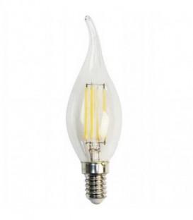 Лампа LED 5вт Е14 теплый свеча на ветру FILAMENT Feron (LB-59)
