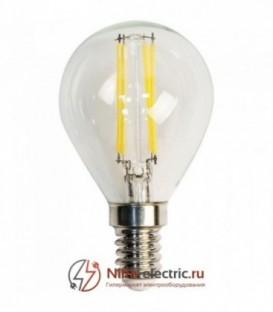 Лампа LED 5вт Е14 теплый шар FILAMENT FERON (LB-61)