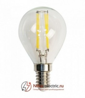 Лампа LED 5вт Е14 белый шар FILAMENT FERON (LB-61)