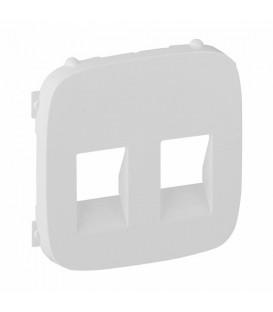 Розетка для динамиков двойная Valena Allure (белый)