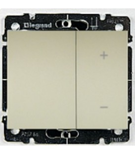 Cветорегулятор кнопочный Legrand Galea Life 40-400Вт (перламутр)