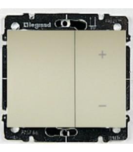 Cветорегулятор кнопочный Legrand Galea Life 60-600Вт (перламутр)