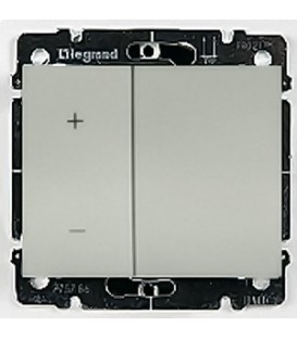 Cветорегулятор кнопочный Legrand Galea Life 40-400Вт (алюминий)
