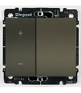 Cветорегулятор кнопочный Legrand Galea Life 40-400Вт (темная бронза)