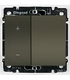 Cветорегулятор кнопочный Legrand Galea Life 60-600Вт (темная бронза)