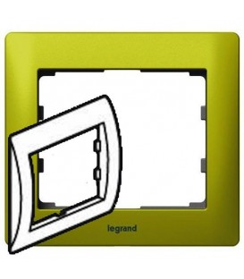 Рамка Legrand Galea life одноместная (зеленый)