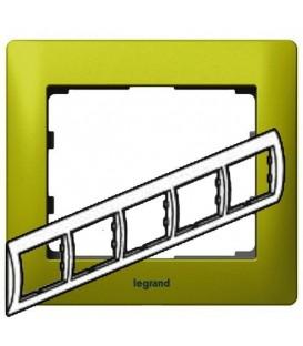 Рамка Legrand Galea life пятиместная горизонтальная (зеленый)