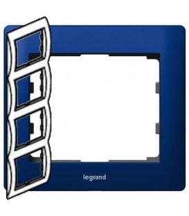 Рамка Legrand Galea life четырехместная вертикальная (синий)