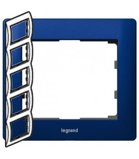 Рамка Legrand Galea life пятиместная вертикальная (синий)