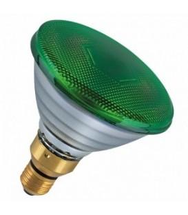 Лампа зеркальная PAR38 FL GREEN 80W E27 зеленая