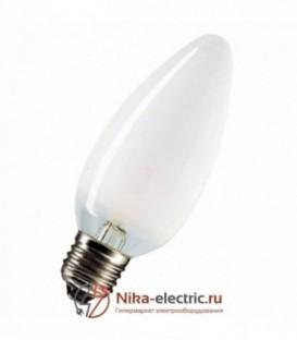 Лампа накаливания свеча 40W E27 матовая