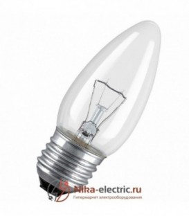 Лампа накаливания свеча 60W E27 прозрачная