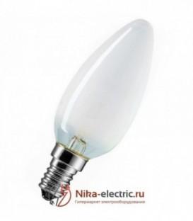 Лампа накаливания свеча 60W E14 матовая