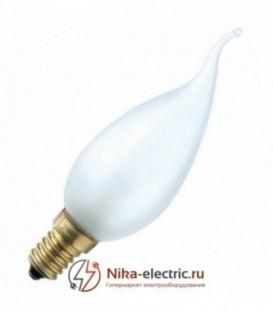 Лампа свеча на ветру 40Вт Е14 матовая