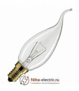 Лампа свеча на ветру 40Вт Е14 прозрачная