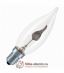 Лампа свеча мерцающий огонь Foton 3Вт Е14 прозрачная
